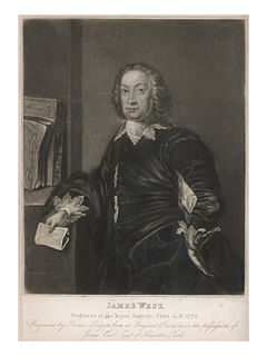 James West (antiquary) President of the Royal Society