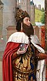 Jan de hey (maestro di moulins), carlo magno e l'incontro alla porta d'oro, 1491-94 ca. 02.jpg
