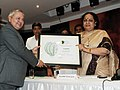 Jayanthi Natarajan presenting the Centre For Science Green Rating Project Awards 3 Leaves to Ispat Industries Limited, Raigad, Maharashtra, at a function, in New Delhi on June 04, 2012.jpg