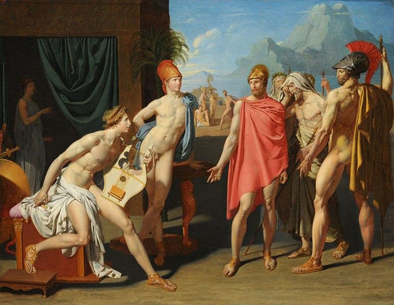 ファイル:Jean-Auguste-Dominique Ingres - Achilles Receiving the Ambassadors of Agamemnon, 1801.jpg