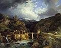 Jean-Charles Joseph Rémond - Village et pont de Crevola sur la route du Simplon à Domodossola (1832).jpg