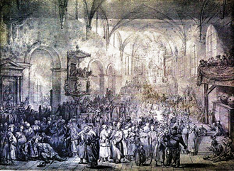 Sejmik - Sejmik in a church, by Jean-Pierre Norblin de La Gourdaine (1745–1830)