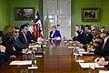 Jefa de Estado encabeza reunión con Comisión Asesora Presidencial de la Araucanía (28996987521).jpg