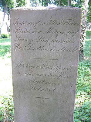 Psalm 3 - Psalm3:6 in Jegłownik cemetery.