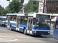 Jelcz M121MB reserve bus of MPK Kraków on Zygmunta Kasińskiego, Ziewrzyniecka and Tadeusza Kościuszki intersection in Kraków.jpg