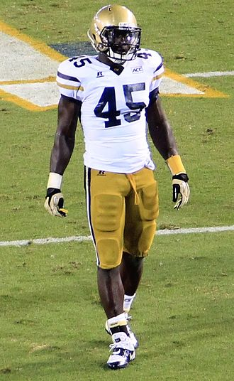 Jeremiah Attaochu - Attaochu during a Georgia Tech game in 2013.