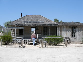 Roy Bean - The Jersey Lilly saloon in September 2005
