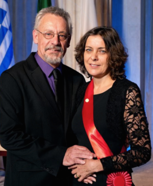 Jillian Banfield - Image: Jillian Banfield and husband Perry Smith at the Franklin Award Ceremony