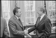 Jimmy Carter with Prime Minister of U.S.S.R., Andrei Gromyko - NARA - 181668