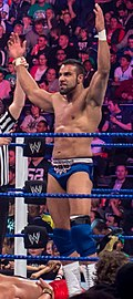 Jinder Mahal at Superstars taping in London 17th April 2012 (7282713292).jpg