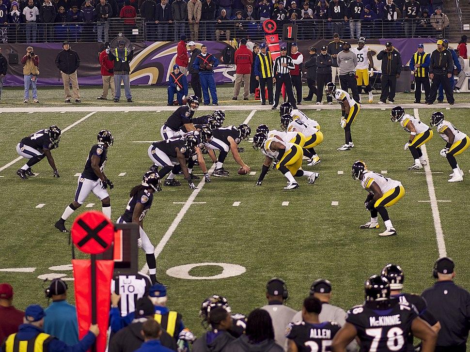 Joe Flacco under center vs Pittsburgh Steelers 12-2-12