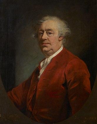 Tetcott - John Arscott (died 1788), the last of the Arscotts of Tetcott. Portrait by James Northcote. National Trust, collection of Saltram House, Devon