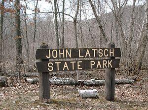 John A. Latsch State Park - John A. Latsch State Park entrance