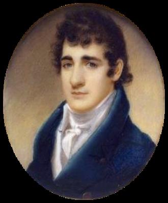 John Payne Todd - Painting of John Payne Todd by Joseph Wood ca.1817