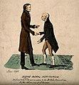 John Dalton shaking hands with Gerrit Moll 1834 Wellcome V0006734.jpg
