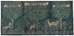 Clouds House - Greenery, Morris & Co tapestry designed for the hall at Clouds by J. H. Dearle, 1892