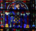 John I, Duke of Brittany - South rose window of Cathédrale Notre-Dame de Chartres.png