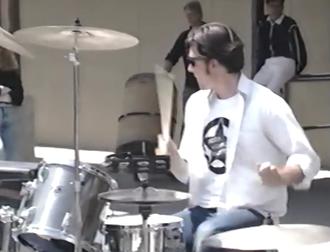 John Kiffmeyer - Kiffmeyer performing with Green Day in May, 1990
