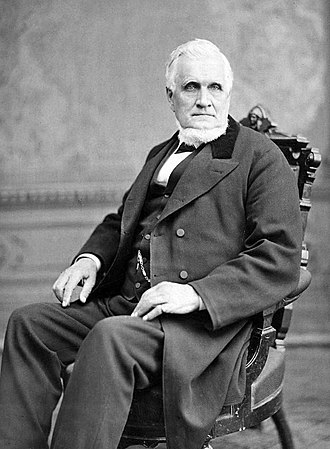 President of the Quorum of the Twelve Apostles (LDS Church) - Image: John Taylor seated in chair