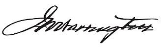 John Wesley Warrington - Image: John Wesley Warrington signature