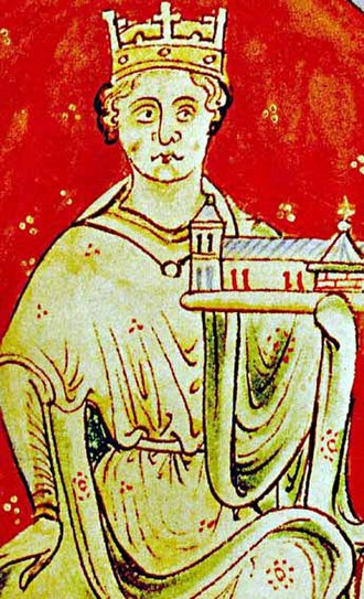 Hubert Walter - King John from a medieval manuscript of Historia Anglorum c. 1250–59
