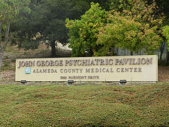 John George Psychiatric Pavilion - Signage, showing former name