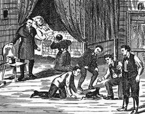 Bell Witch - The death of John Bell, December, 1820. Illustration first published in 1894.
