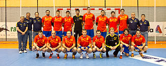 Spain national handball team - Spain national handball team in 2013.