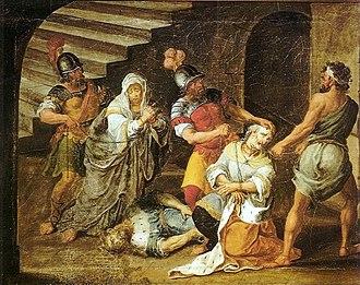 Judas Maccabeus - Death of Judas Maccabeus by José Teófilo de Jesus