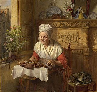 Josephus Laurentius Dyckmans - The lace maker