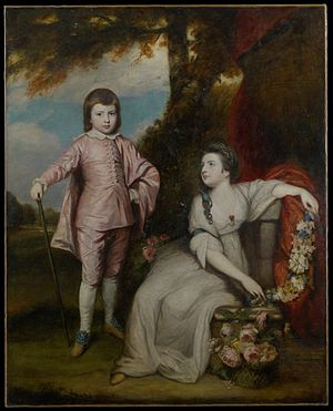 George Capel-Coningsby, 5th Earl of Essex - 1768 portrait by Sir Joshua Reynolds of George Capel, aged 10, with his sister, Elizabeth Capel