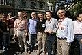 Josu Erkoreka (EAJ-PNV), Josep Antoni Duran Lleida, el president d'EAJ-PNV, Íñigo Urkullu, Artur Mas i Xavier Trias, abans de la manifestació.jpg