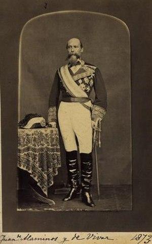 Juan Alaminos y Vivar - Alaminos in 1873