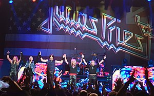 Judas Priest - Image: Judas Priest Redeemer of Souls 9th Oct 2014 Barclay Center, Brooklyn , New York