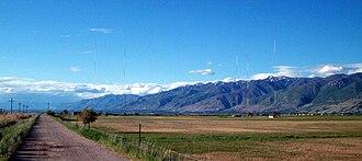 KALL - The radio towers for KALL AM 700, northwest of Salt Lake City, Utah.