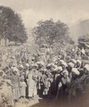 KITLV 100479 - Unknown - Men and children, presumably at a market in Kashmir in British India - Around 1870.tif