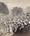 KITLV 100479 - Unknown - Men and children, presumably at a market in Kashmir in British India - Around 1870.tif