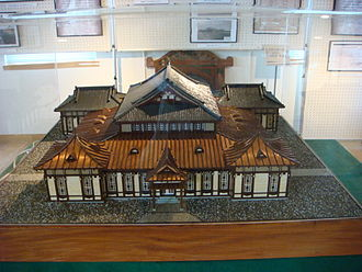 Tatsuno Kingo - Scale model of the first school building of Kyushu Institute of Technology in the Tobata campus archives