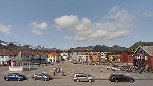 Kabelvåg - Kabelvåg town square