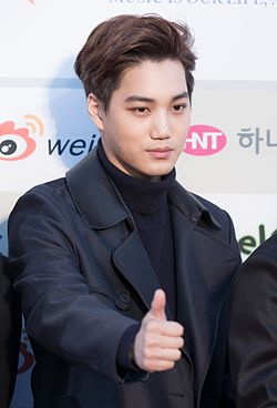 Kai - 2016 Gaon Chart K-pop Awards red carpet.jpg
