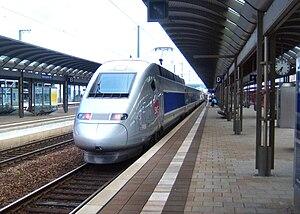 Kaiserslautern Hauptbahnhof - TGV on the way to Paris