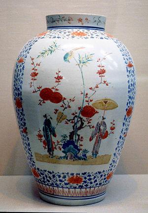 Kakiemon - Imari Kakiemon porcelain jar, Imari, Japan.