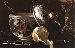 Kalf, Willem - Still-Life with a Nautilus Cup (detail) - 1662.jpg