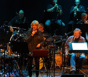 Karin Krog - Krog with Bergen Big Band in 2014