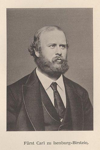 Karl, Prince of Isenburg-Büdingen - Prince Karl.