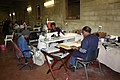 Kaross embroiderers at work, Kaross Factory, Limpopo, South Africa (10190255736).jpg