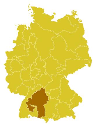 Roman Catholic Diocese of Rottenburg-Stuttgart - Image: Karte Bistum Rottenburg Stuttgart