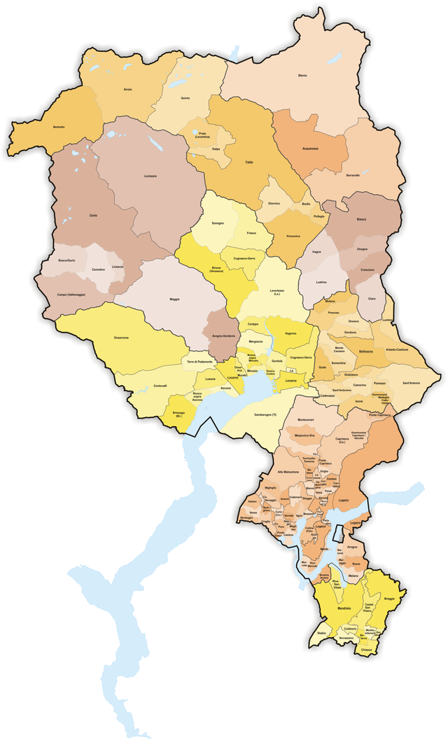 Subdivisions of the canton of Ticino Wikiwand