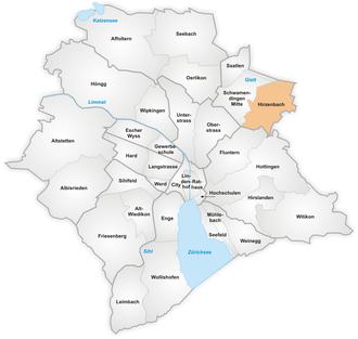 Hirzenbach - The quarter of Hirzenbach in Zürich