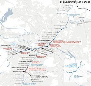 U3 (Berlin U-Bahn) - Image: Karte berlin u u 10 3